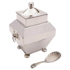 Good Edwardian Silver Plated Tea Caddy, Circa 1905