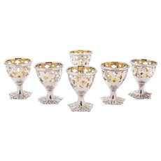 Nice Set of 6 Victorian Egg Cups, Circa 1880