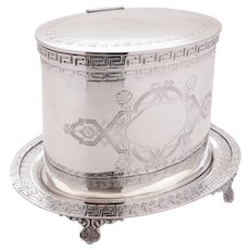 Lovely Victorian Silver Plated Biscuit Barrel, Circa 1890