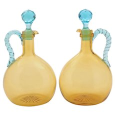 Fabulous Pair of Victorian Decanters, Circa 1890