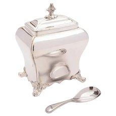 Lovely Georgian Silver Plated Tea Caddy circa 1800