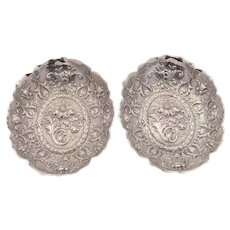 Pair of Superb Victorian Silver Dishes, London 1892