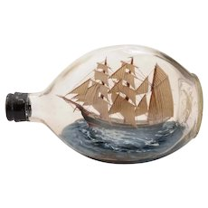 Nice Ship in Bottle, Circa 1920
