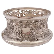 Superb Silver on Copper Dish Ring, Circa 1900