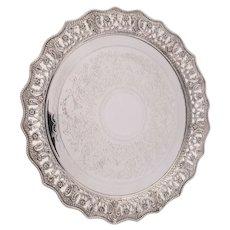 Gorgeous Victorian silver plated salver circa 1880