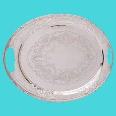 Fabulous Large  Edwardian  silver plated tray. circa 1905