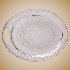 Fabulous Large  Edwardian  silver plated tray. circa 1905