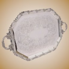 Superb Edwardian Silver Plated Tray, Circa 1905