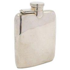 Stylish Silver Hip Flask - Asprey Chester 1915