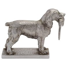 1960s Car Mascot of Dog with Pheasant