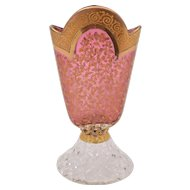 Venetian Fan Shaped Glass Vase, Circa 1920