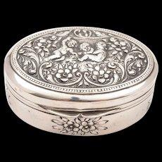 Continental .800 Silver Snuff Box, Circa 1900