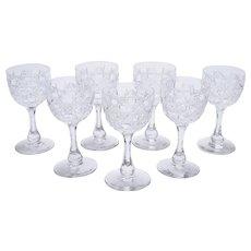 Set of 7 Edwardian Dessert Glasses, Circa 1905