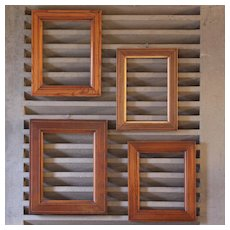 Set of four 19th century French frames,different wood species: pitchpin,mahogany and rosewood.
