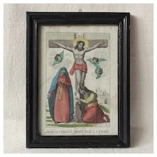 Small French Early 19th Century Religious Engraving