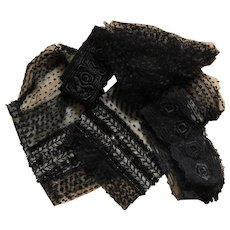Set of 5 French antique clothes pieces for restoration or sewing project.
