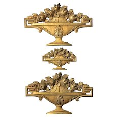 French Architectural Decorative Set:Gilded Bronze Plates .Early 20th Century