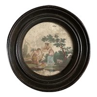 Charming French Miniature Mythological Engraving Early 19th Century.