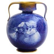 Lovely Doulton Burslem '' blue children'' vase.