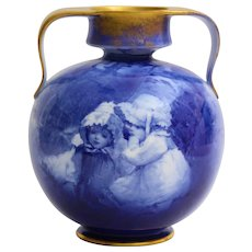 Lovely Doulton Burslem '' blue children'' vase.