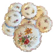 Fantastic Antique Limoges Porcelaine Hand Painted Dessert Service,France Circa 1897-1900