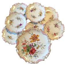 Fantastic Antique Limoges Porcelaine Hand Painted Dessert Service,France Circa 1897-1900