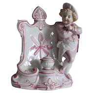 Charming French vintage porcelain figurine : '' The little cook ''.