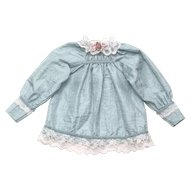 Charming vintage French blue taffeta doll blouse.