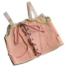 Beautiful ancient French corset for large doll.