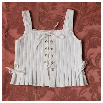 Antique French corset for bebe or large doll.Circa 1900.