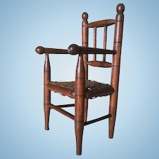 Little French Country Chair Turned wood.Circa 1880-1900