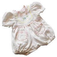 Cute French Vintage Cotton Romper for Little Doll.
