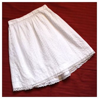 Large French Petticoat,Beautiful Thick Cotton and Lace,for French or German Doll.