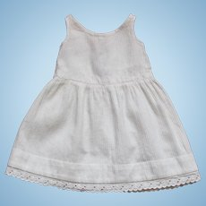 Pretty Vintage French Cotton Summer Dress for Small Doll.