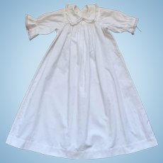 Charming Antique French White Cotton Night Dress For Doll.