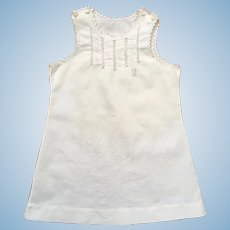Exquisite Antique French Embroidered Chemise / Full Slip.