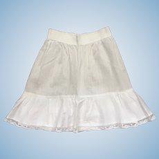 Charming Antique French Cotton Batiste Half Petticoat.