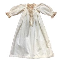 Lovely French Night Dress, Off- White Cotton and Lace.