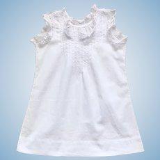 Pretty French Cotton Full Slip or Nightgown.Circa 1900