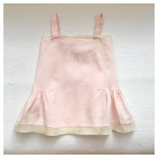 Charming French Doll Pink Cotton Full Slip.