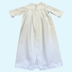 Pretty French White Cotton Pique Doll Coat .Circa 1900