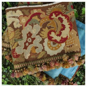 Antique Decorative French Napoleon III tapestry panel valance 83 inches.19th century