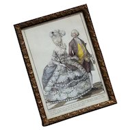 Rare and beautiful French engraving from the ''Gallerie des Modes et Costumes Français…'' 18th century.