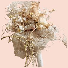 Shabby French Bouquet and Bridal Wreaths 1920s.