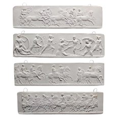 Four Plaster Reproductions Sections of Parthenon Frieze after John Henning (2nd batch). 19th century