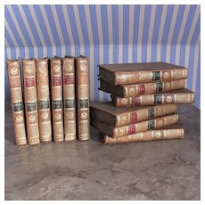 18th Century ''Oeuvres de Miss Burney'' ,in French , 12 Volumes.