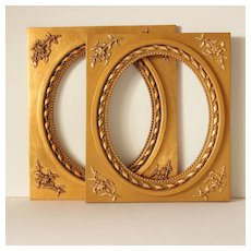 Two Beautiful French Gilded Stuccoed Wooden Frame.Early 20th Century