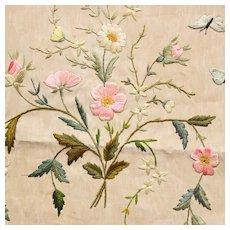 Pretty Decorative French Floral Embroidery.Circa 1900-1920