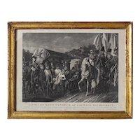 Antique 19th Century French Engraving Napoleon 1st on Horseback