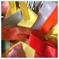 Big Batch of French Vintage Velvet Ribbons.